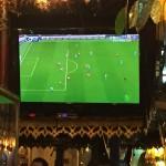 English football on the TV!