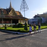 In the grounds of the Royal Palace