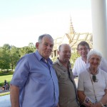 Enjoying our visit to the Royal Palace in Phnom Penh