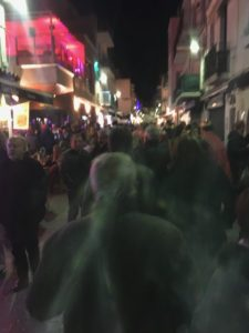 Crowds of people fill every street