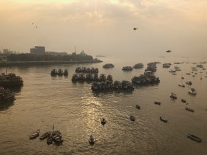 Still being on the 'India Weight Loss Programme' I was awake at sunrise this morning and took this photo of Mumbai harbour.