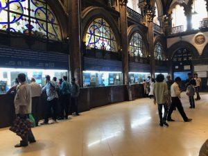 The ticket hall at VT Station, Mumbai