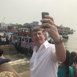 Captain Clarke really hasn't grasped the art of the selfie - he is holding a Nokia 115 that doesn't have a camera!