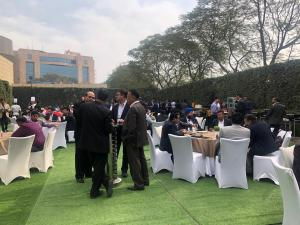 Lunch on the lawn at the conference
