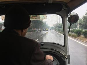 The hotel tuk tuk took us to IFFCO Chowk station